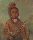 George Catlin, Commanding General, a boy (Wa-Ta-We-Buck-A-Na)