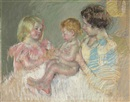 Mary Cassatt, Sara and Her Mother with the Baby