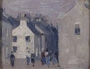 John Duncan Fergusson, Figures in a village street