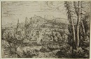Hans Sebald Lautensack, View on a city near a river (from Landscapes)