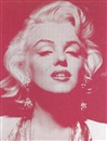 Russell Young, Marilyn Monroe portrait - reach out and touch faith white and rose