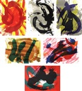 Kazuo Shiraga, Eitoku, Ensho, Chikamatsu, Buson, Kokan, Kuniyoshi (sold with 60B; set of 2)