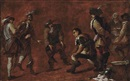 Circle Of Jan Miel, Soldiers playing boules