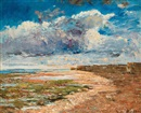 Carl Fredrik Hill, Dark clouds over the cliffs, Luc-sur-Mer