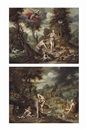 Studio Of Jan Brueghel the Younger, The Expulsion of Adam and Eve  and The Toil of Adam (2 works)