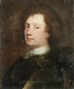 Alexis Grimou, Portrait of a man, bust-length, in a white cravat and armour