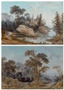 Jean-Baptiste Pourcelly, Paysages animés (pair)