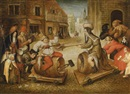 Circle Of Pieter Brueghel the Younger, The battle between Carnival and Lent