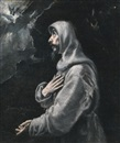 Workshop Of El Greco, Saint Francis in ecstasy