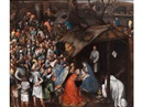 Workshop Of Pieter Brueghel the Younger, Anbetung des Kindes in Betlehem