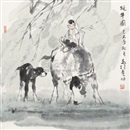 Ma Zhensheng, 牧牛图 (Herding cattle)