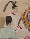 Paul Jacoulet, Hommages auc ancetres: pretre Shinto, Japan