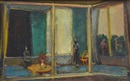 Joseph Floch, Interior with Two Figures