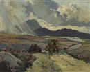 Anne Primrose Jury, Heavy showers near glen village, County Donegal