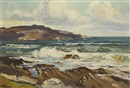 Anne Primrose Jury, Autumn, stormy sea, Portnabalagh, County Donegal