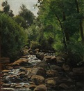 Christian Peder Mørch Zacho, A serptentine forest stream