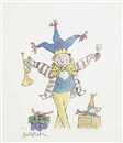 Quentin Blake, Design for a greeting card: Celebration!