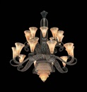 Daum and Edgar Brandt, Chandelier