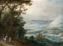 Circle Of Joos de Momper the Younger, La halte des cavaliers devant un paysage panoramique