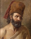 Anne-Louis Girodet de Roucy-Trioson, Homme barbu au bonnet d'ourson