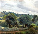 Gilbert Spencer, Towards Bere Nap - Dorset Study