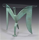 Judy McKie, Ibis demilune console table