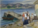 Marcus Collin, On a Pier, Scene from Norway