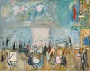 Nachum Gutman, Café by the Kinnereth (Cafe in Tiberias)