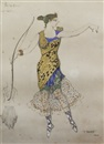 Leon Bakst, Costume design for Anna Pavlova in the role of Sylvia from the Pas de Diane