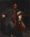 Herman Albert Gude Vedel, Doctor and cello player Carl Bretton-Meyer (+ Portrait of his wife Astrid, née Prior, verso)