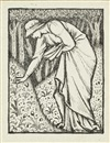 "Edward Burne-Jones, Illustration for the frontispiece to ""Select Epigrams"" from The Greek Anthology by J.W. Mackail"