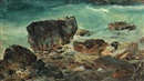 Daniel Hermann Anton Melbye, Coastal scene with larger rocks