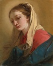 Giovanni Battista Tiepolo, Mary Magdalene in three-quarter view, veiled in a white cloth
