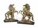 After Guillaume Coustou the Elder, Models of the Marly Horses (pair)