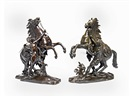 After Guillaume Coustou the Elder, Models of the Marley horses (pair)