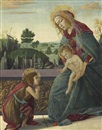 Sandro Botticelli, The Rockefeller Madonna: Madonna and Child with Young Saint John the Baptist