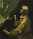 School Of El Greco, Saint Francis of Assisi receiving the stigmata