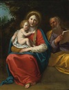 Francesco Albani, The Holy Family in a landscape