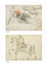 Cherubino Alberti, Studies of male and female nudes, a satyr, a camel and other beasts (recto), The Marcus Aurelius equestrian statue (verso)