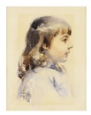 Follower Of Mary Cassatt, Profile portrait of a girl