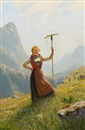 Hans Dahl, Peasant girl with a rake