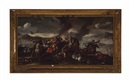 Follower Of Jacques Courtois, A battle scene and Untitled (2 works)