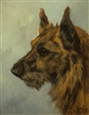 Arthur Batt, Scottish Terrier head study