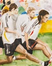Elizabeth Peyton, Klose, Podolski and Frings (German Team Stretching), July 8, 2006