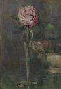 Constance Walton, Rose in a stem vase
