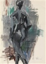 Alma Woodsey Thomas, Untitled (Standing Nude)
