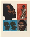 Elizabeth Catlett, For My People (portfolio of 5 w/text by Margaret Walker & colophon)