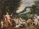 Attributed To Jan Brueghel the Younger, Ein Bacchanal