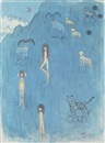 Aya Takano, Himalayas, blue sheep, snow tiger, wolf, people who live there