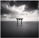 Michael Kenna, Torii, study 2, biwa lake, honshu, japan